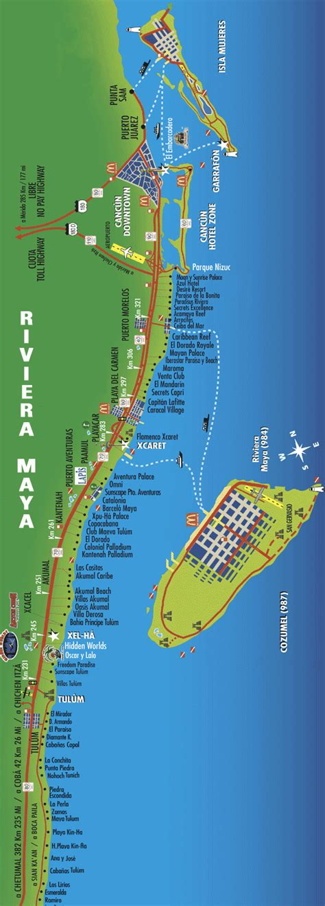 riviera map mayan riviera hotels cancun airport transportation invitations ideas