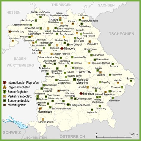 bavaria germany map map of airports in bavaria