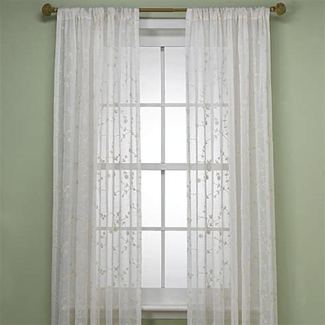 bed bath and beyond curtains and window treatments b smith bermuda window curtain panel in ivory bed bath