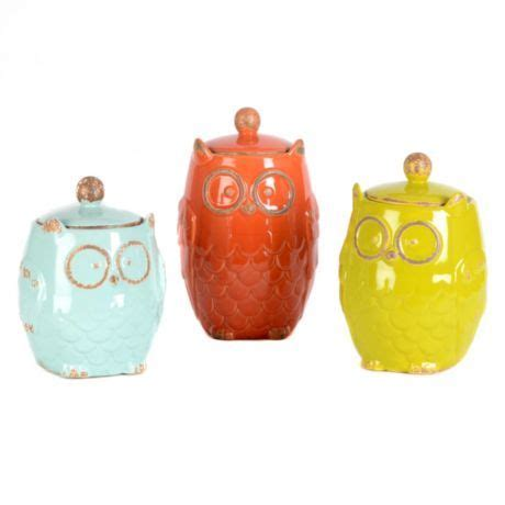 owl canisters for the kitchen owl canister set of 3 kirkland s classroom ideas