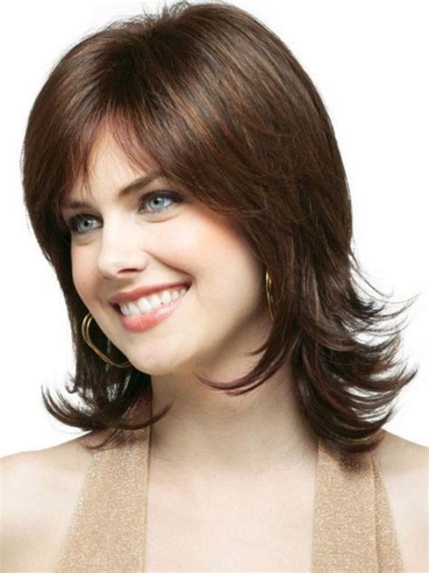 photos medium length flip hairstyles haircuts with flip behind the ear angled bob ombre