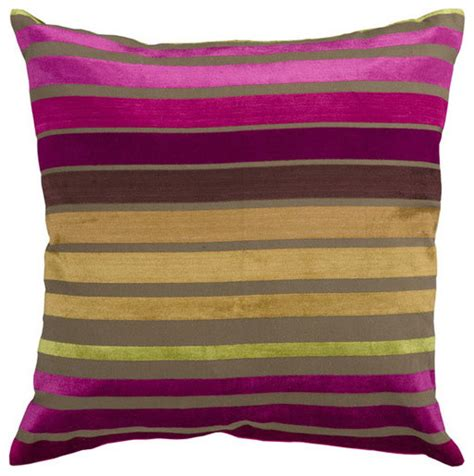 Wine Colored Pillows Raspberry Wine And Multi Colored Striped 22 X 22 Pillow