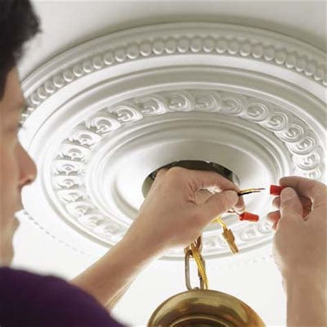 how to install ceiling medallion install the light fixture how to install a ceiling