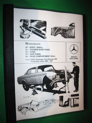 Mercedes Benz Body Repair Manual For 1959 67 Models