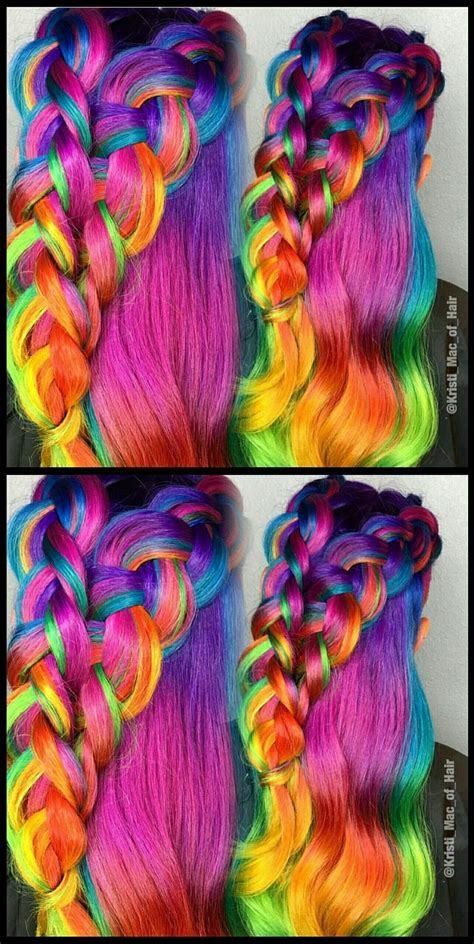 bright colored hair 25 best ideas about bright hair colors on