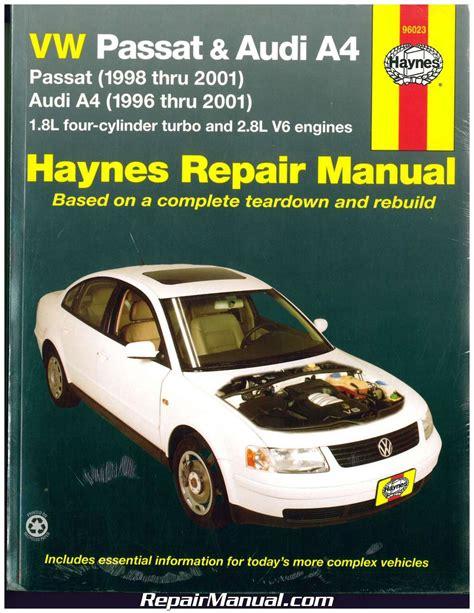 online car repair manuals free 2005 volkswagen new beetle navigation system haynes vw passat audi a4 1996 2001 auto repair manual