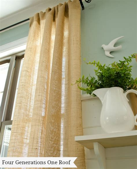 making curtains out of burlap how to make curtains using burlap four generations one roof