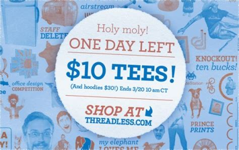 Threadless 10 Sale by Threadless 10 Sale Continues Reviewer