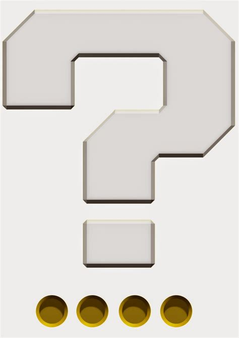 printable mario question mark my super mario boy make your own mario question mark