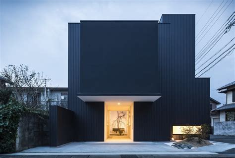 minimalism architecture distinct black white exterior showcased by minimalist