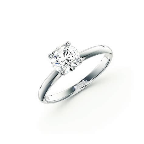 timeless four prong solitaire engagement ring in 14k