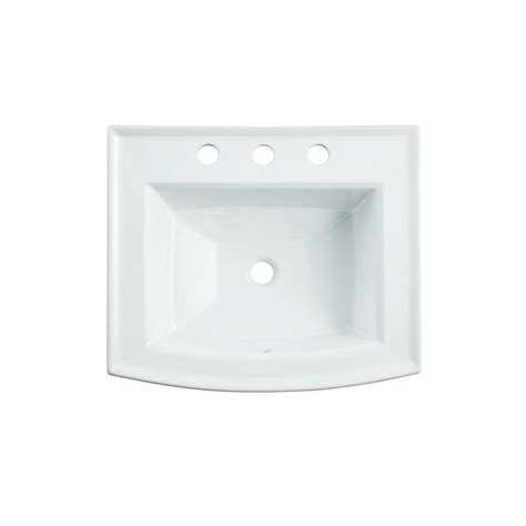 kohler archer drop in vitreous china bathroom sink in white with overflow drain k r2356 8 0