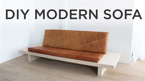 diy loveseat diy modern sofa how to make a sofa out of plywood youtube