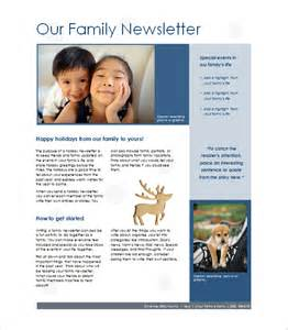 photo newsletter template 7 family newsletter templates free word documents