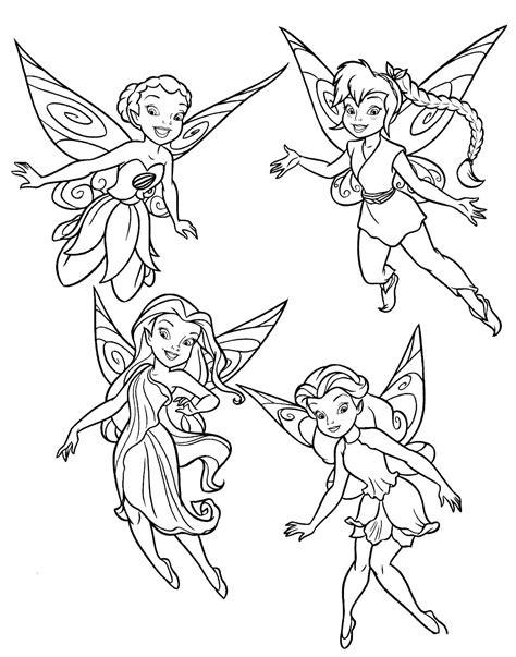 imagenes para colorear tinkerbell dibujos de todas las hadas de tinkerbell para colorear
