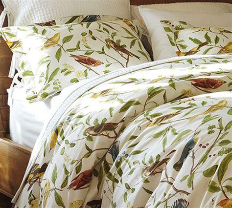 bird bedding bird motif bedding spring decorating idea from pottery barn