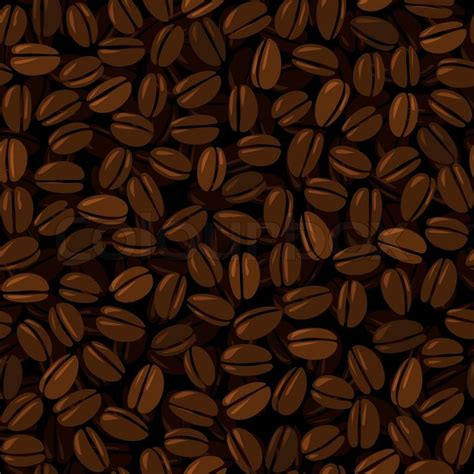 coffee cafe wallpaper vector coffee beans seamless background stock vector colourbox
