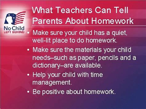 Parent Tips On Homework by What Teachers Can Tell Parents About Homework Part 1 A