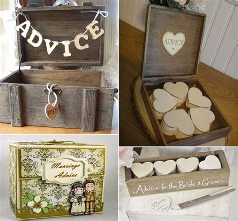 Wedding Box Reading by Wedding Advice Box For Guests To Put Their Advice In