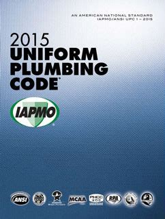 National Standard Plumbing Code 2012 by 2006 Upc Plumbing Code