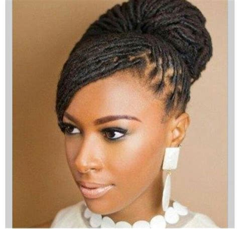 natural locs hairstyles for black women loc updo natural hair care pinterest my hair