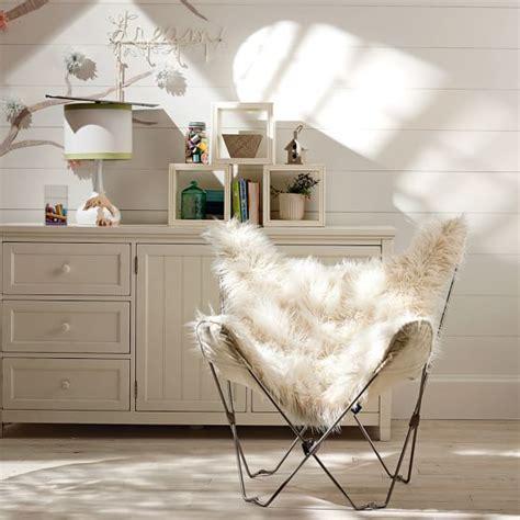 faux fur butterfly chair gray furlicious faux fur butterfly chair pbteen
