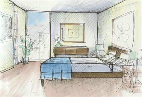 sketch of a bedroom interior hand sketch drawing ideas ideas kahode home