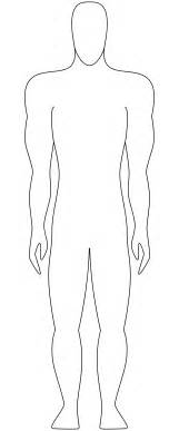 human figure template printable outline of person template clipart best