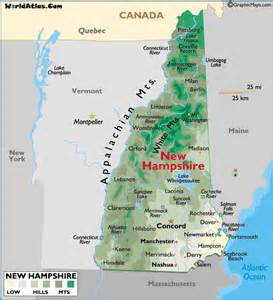 Nh State Map by Gallery For Gt New Hampshire Map