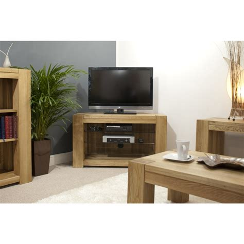 Corner Cabinet Living Room Furniture Michigan Television Cabinet Corner Stand Unit Solid Oak Living Room Furniture Ebay