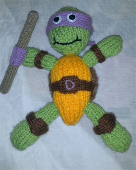knitting pattern for ninja turtles knitted teenage mutant ninja turtle yarn pinterest