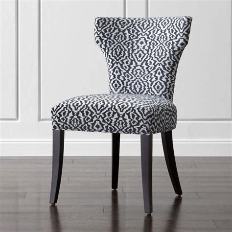 linen blend kerri grey upholstered dining chair