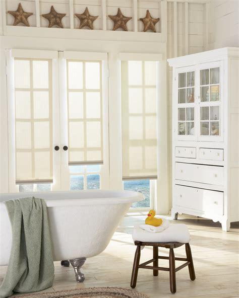 premier window coverings designer roller shades farmhouse bathroom portland