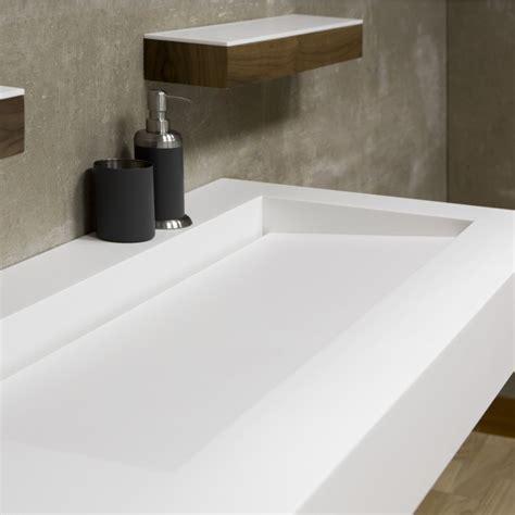 meuble sdb bois 518 vasque corian 174 plan vasque allong 233 e salle de
