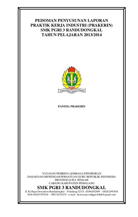 contoh judul laporan prakerin tkj pedoman laporan prakerin smk pgri 3 randudongkal