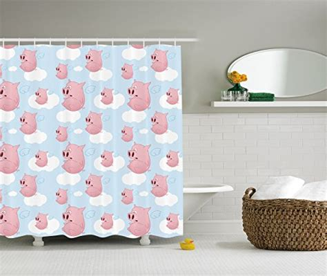Pig Shower Curtains Kritters In The Mailbox Pig Shower Pig Bathroom Accessories
