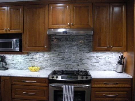 Kitchen Backsplashes With White Cabinets by Grey Backsplash