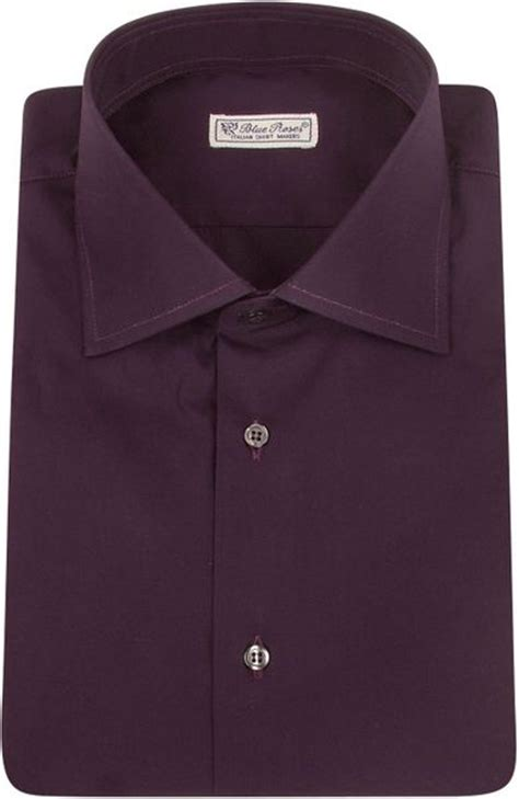 plum colored shirts forzieri blue roses solid plum cotton dress shirt in