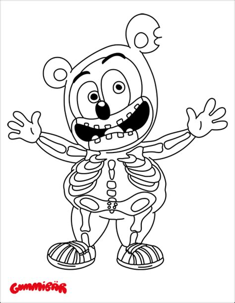 coloring pages gummy bear download a free gummib 228 r halloween coloring page gummib 228 r
