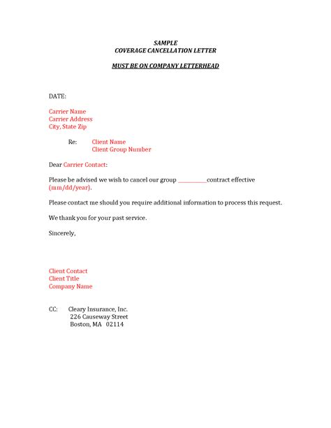 Cancellation Card Template by Auto Insurance Cancellation