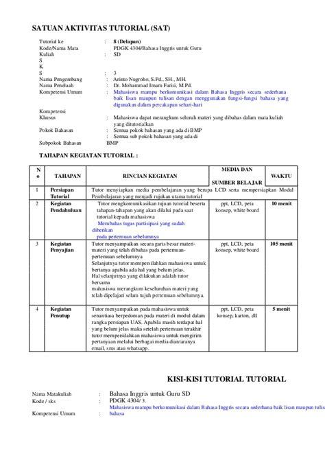 tutorial bahasa inggris sd pdgk4304 bahasa inggris untuk guru sd 7
