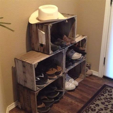 33 shoe storage ideas diy wooden crate shoe rack 9 best images about pop crates on advent