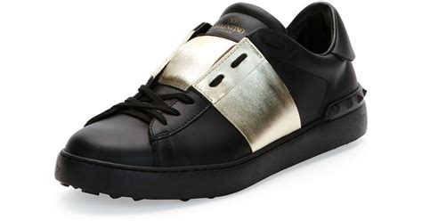 10 Best Valentino Shoes by Valentino Low Top Sneaker With Stripe In Black For Lyst
