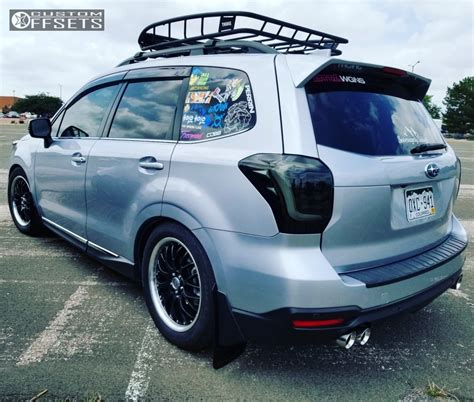 subaru forester 2017 black 2017 subaru forester drag dr19 bc racing coilovers