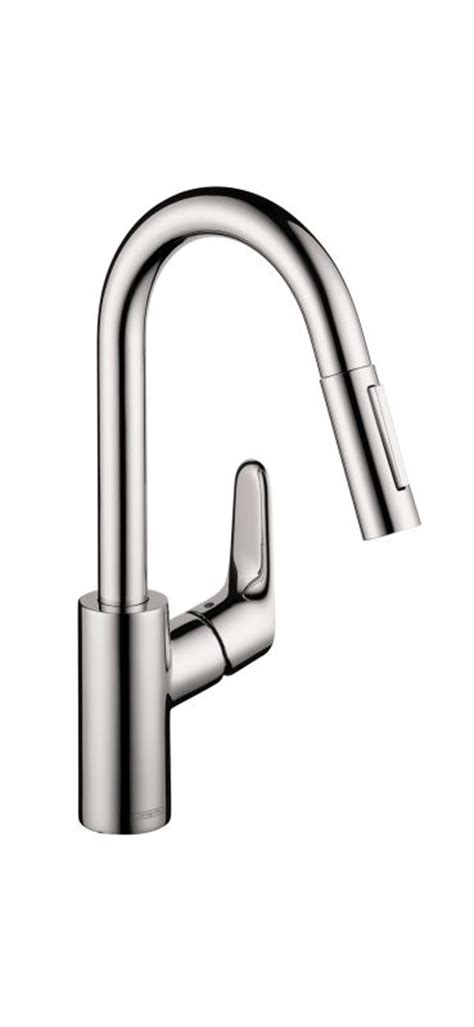 pull down kitchen faucet with magnetic sprayer dock best hansgrohe 04506001 chrome focus pull down kitchen faucet