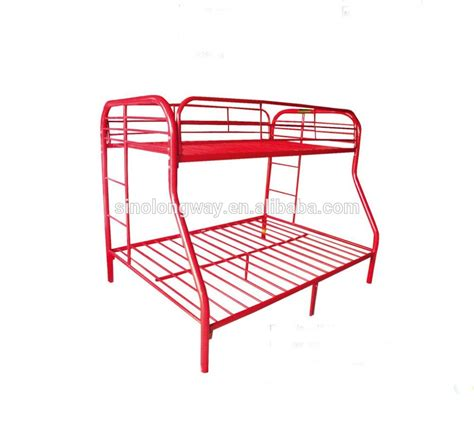 red bunk beds red twin over full metal bunk bed metal home bed buy
