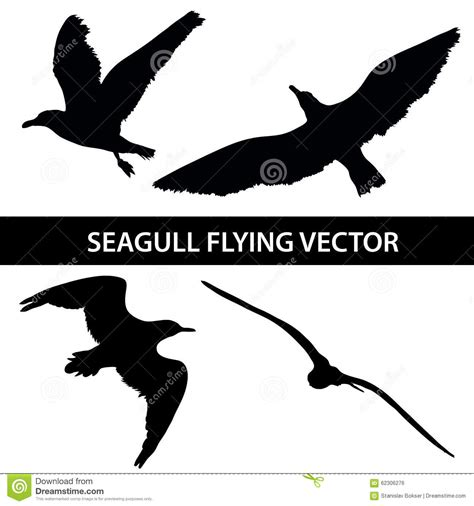 Safira Abstrack Set 4in1 Diskon set of silhouette seagull flying 4 in 1 on white background stock vector image 62306276
