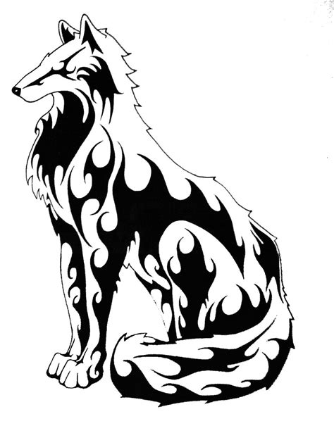 tribal outline tattoo designs wolf tattoos designs ideas and meaning tattoos for you