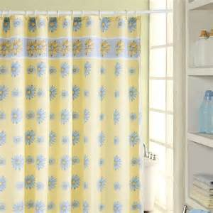 Blue and yellow shower curtains 5ways2win com
