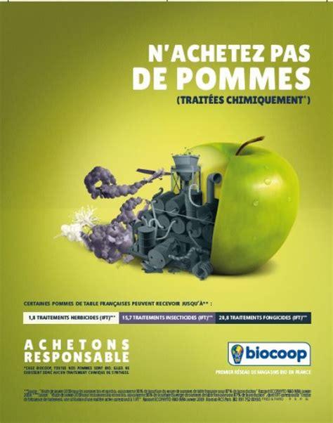 biocoop gagne pour sa cagne publicitaire fruits et